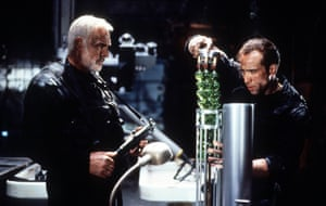 Connery in Michael Bay's thriller The Rock, with Nicolas Cage, 1996.