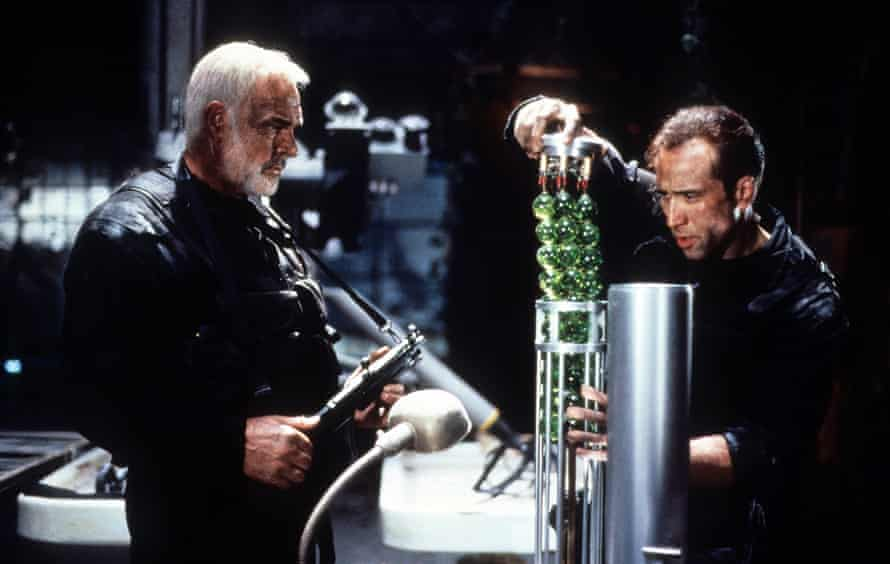 Snappy dialogue … Sean Connery and Nicolas Cage in The Rock.