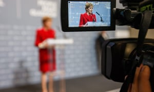 Nicola Sturgeon speaks after being re-elected to serve Glasgow Southside.