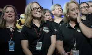 Members of the New Horizons mission team at the Johns Hopkins University applied physics laboratory in Maryland.