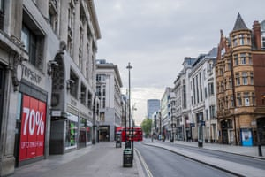 Oxford Street is deserted during the lockdown
