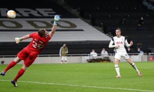Gareth Bale adds a third for Spurs.