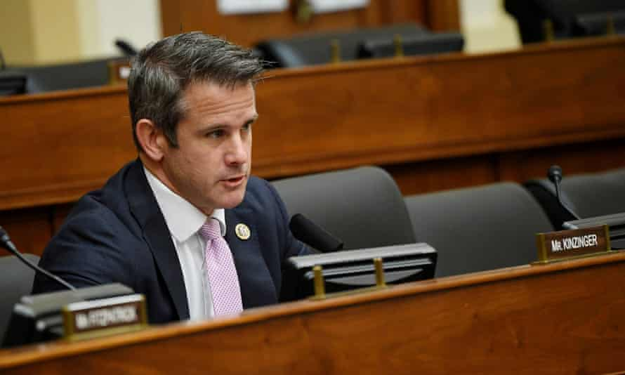 Adam Kinzinger during a House foreign affairs committee hearing.
