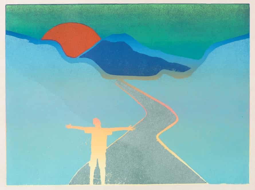 In the High Mountains, one of the 'prodigiously gifted' Tom Hammick's paintings, from The Making of Poetry
