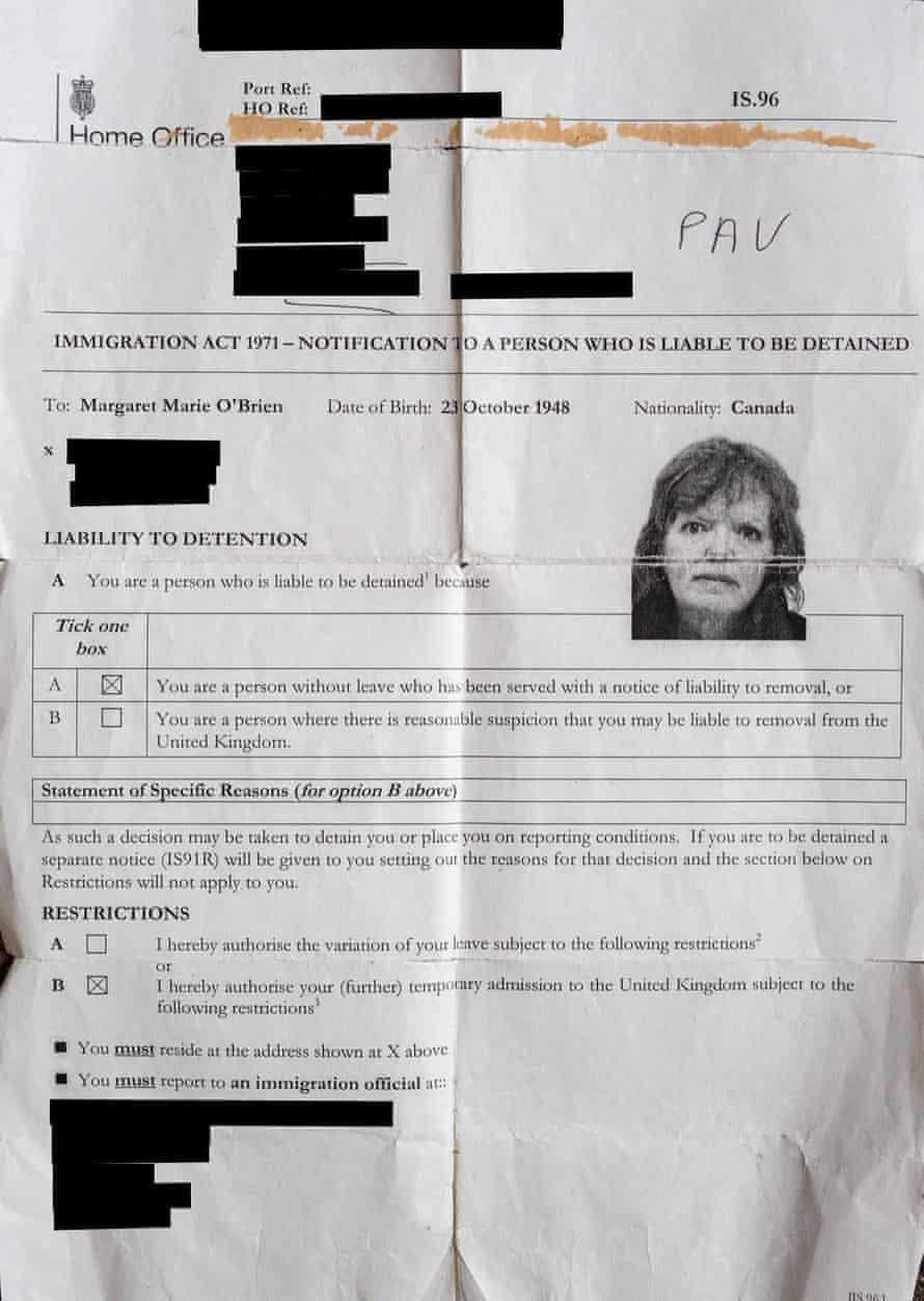 Letter sent to Margaret O'Brien