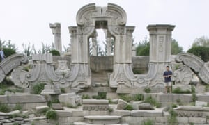 The ruins of the Summer Palace at Yuanmingyuan park in Beijing.