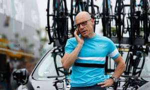 Team Sky's Sir Dave Brailsford seen during the Tour de France in July 2016