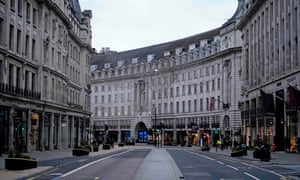 A near-deserted Regent Street is pictured in London on Boxing Day as Londoners continue to live under tougher Tier 4 lockdown restrictions. - Fears over new strains and surging coronavirus infections across Europe have severely dampened the mood over the holiday season.