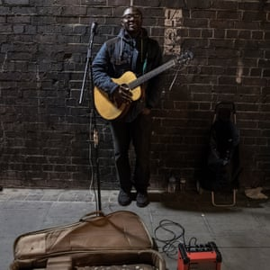 A busker on the streets