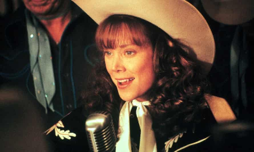 Sissy Spacek in Coal Miner's Daughter, 1980, directed by Michael Apted.  Many of her feature films focused on female achievements.