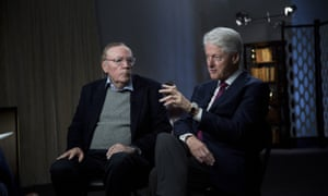 Bill Clinton faced awkward questions about his affair with Monica Lewinsky while promoting his book with co-author James Patterson.