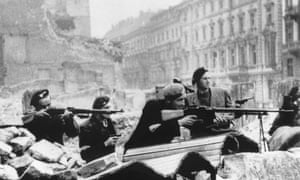 The Warsaw Uprising by the Polish resistance to liberate Warsaw from Nazi Germany, 1944.