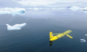 An artist's impression of Boaty McBoatface in the Antarctic.