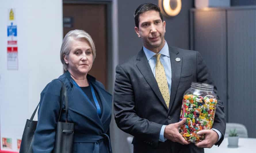 His talents are wasted ... David Schwimmer in Intelligence.