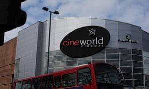 A Cineworld Cinema in Enfield, north London