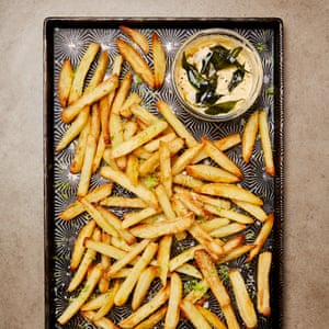 Grate idea: oven chips topped with lime zest with a cardamom mayonnaise dip.