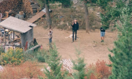Surveillance photo of Weavers with guns on the property in Ruby Ridge, 1992.