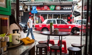A Tai Hang noodle shop, opposite one of the area's many car mechanics