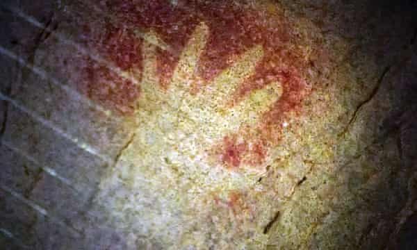 Series with a further reach: clip from Civilisations showing a hand stencil dated 37,000 BCE.