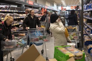 Shoppers in an Aldi supermarket in London this week