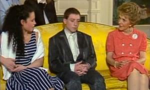 The Grange Hill gang meet Nancy Reagan in 1986.