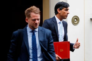 Britain's Chancellor of the Exchequer Rishi Sunak leaving 11 Downing Street last week