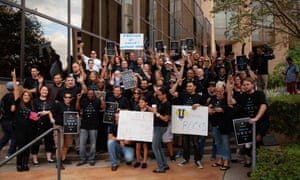 Uber employees in Austin, Texas. 'Regulations are clearly written for the incumbent industry,' says a company spokesperson.