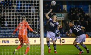 Jon Dadi Bodvarsson scores from an offside position as Millwall held Fulham to a draw at the Den.
