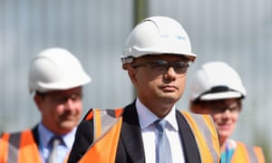 The chancellor, Sajid Javid, visit to the National Grid training centre near Newark in August.