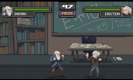 Science Kombat: an homage to fighter games of yesteryear, with added science.