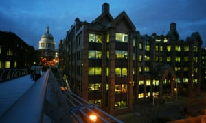 The offices of Old Mutual Securities near St Paul's cathedral, London