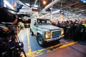 The last Land Rover Defender rolling off the production line