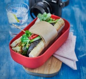Uyen Luu's roasted vegetables banh mi.