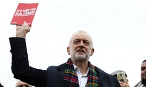 For the many... no, hang on. Jeremy Corbyn with that memorable new slogan.
