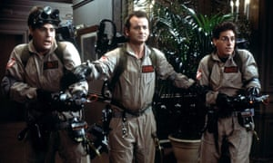 Surge of creativity … from left, Dan Aykroyd, Bill Murray and Harold Ramis in Ghostbusters.