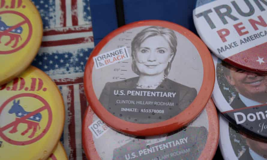 Inauguration buttons on sale in Washington, DC on Friday.