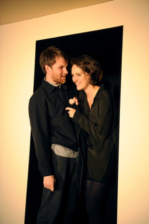 Hugh Skinner and Phoebe Waller-Bridge in 2nd May 1997 at the Bush theatre, London, in 2009. Jack Thorne's play is set on the night before and the morning after Labour's historic electoral landslide. Michael Billington praised Waller-Bridge's performance as 'a sexually voracious girl who is surfing the electoral excitement to hide some private unhappiness'.