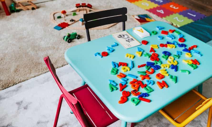 A table in a nursery