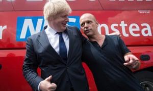 Boris Johnson and Steve Hilton in Norwich