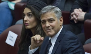 George Clooney and his wife Amal Clooney