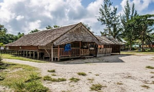 Rungus longhouse at the Tip of Borneo.