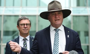 Nationals MP David Gillespie and Barnaby Joyce