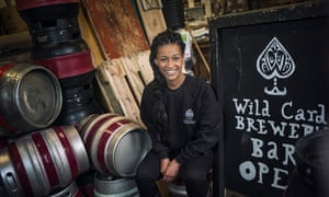 Jaega Wise, head brewer at Wild Card in Walthamstow, east London.