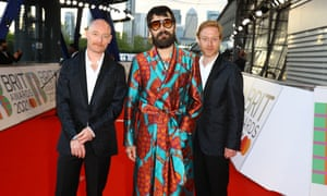 Biffy Clyro arrive at the Brit awards.