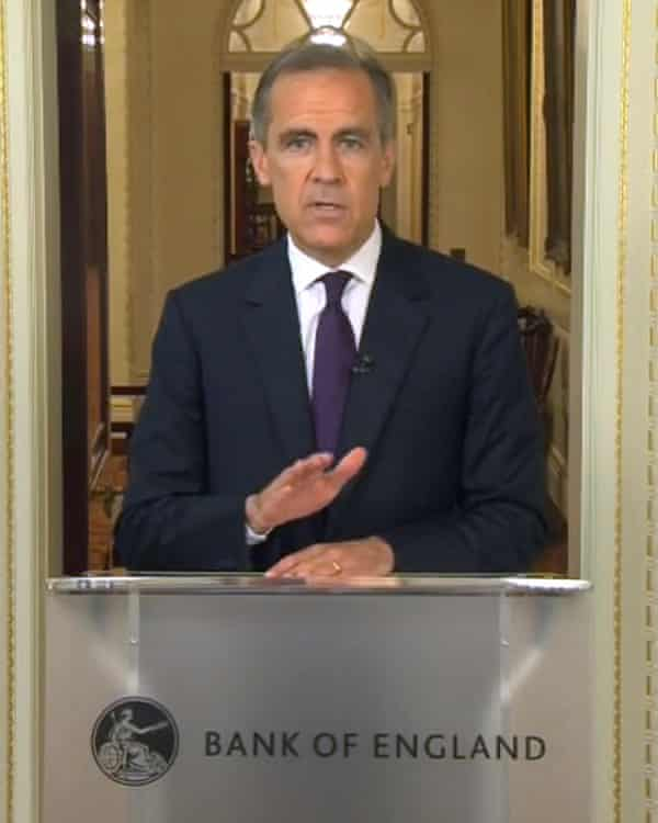 Mark Carney addresses the country after the UK's Brexit vote.