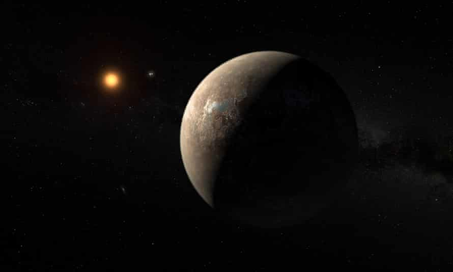 An artist's impression of the newly discover, nearby world of Proxima Centauri b. Roughly the size of Earth, it could be a habitable planet.