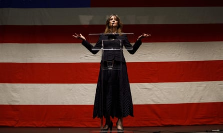 Vote for me: Marianne Williamson announces the start of her presidential campaign in Beverly Hills, January 2019.