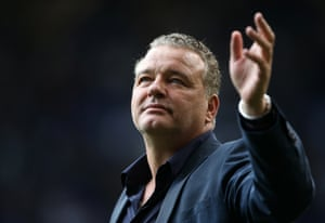 Paul Stewart reacts to the fans during a game at White Hart Lane during May 2017.