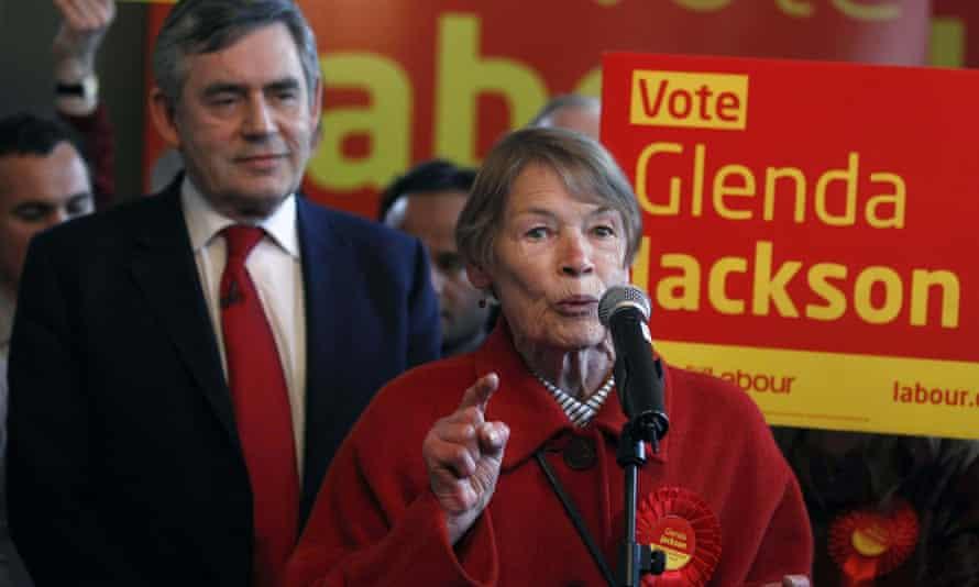 Glenda Jackson with Gordon Brown in 2010