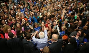 Bernie Sanders rally Indiana US election 2016